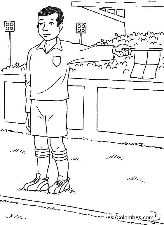 coloriage foot 10 - Coloriage en ligne gratuit pour enfant