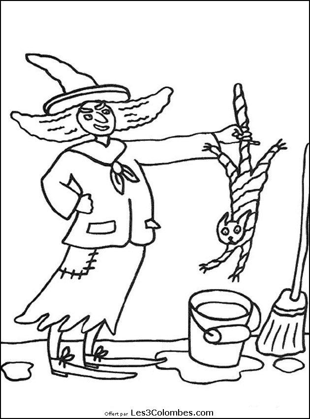 Coloriages halloween 037 coloriage en ligne gratuit pour - Coloriage en ligne enfant ...