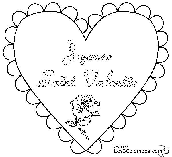 Coeur a colorier amour 014 coloriage en ligne gratuit - Coloriage enfants en ligne ...