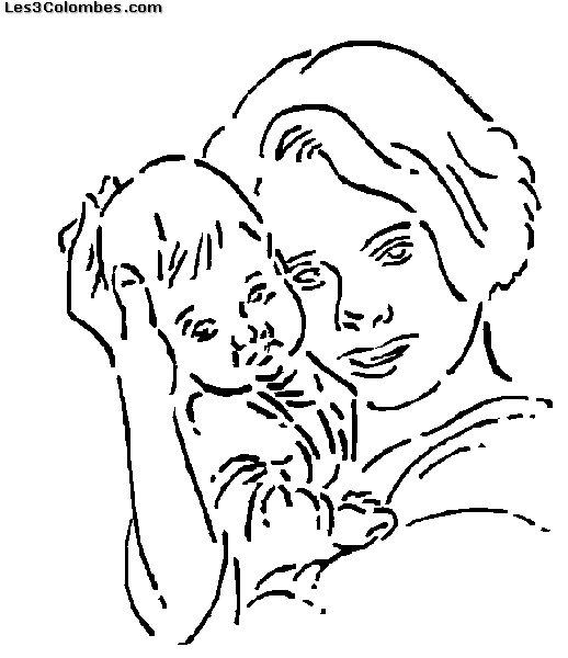 Fete des meres 15 coloriage en ligne gratuit pour enfant - Coloriage en ligne enfant ...