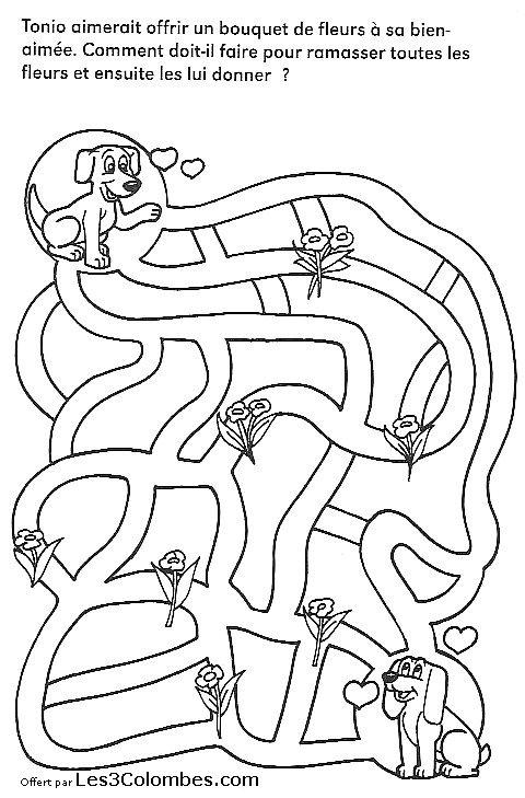 Labyrinthe enfant 27 coloriage en ligne gratuit pour enfant - Coloriage enfants en ligne ...