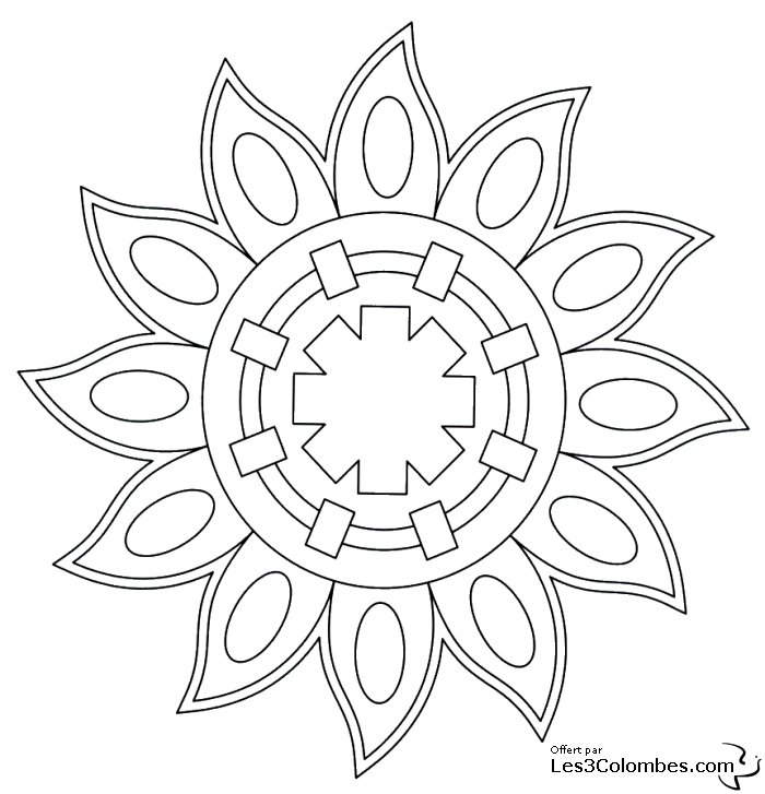 Coloriage mandala 42 coloriage en ligne gratuit pour enfant - Mandala coloriage en ligne ...