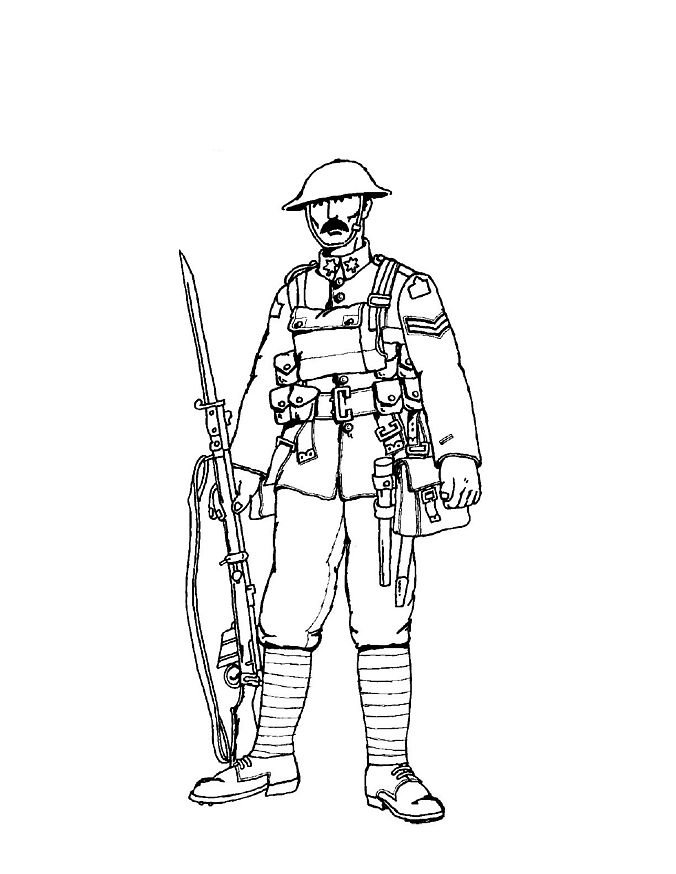 coloriage soldat-1-re-guerre-mondiale 14 - Coloriage en ...